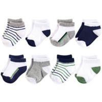 Yoga Sprout Size 6-12M 8-Pack No-Show Socks in Green