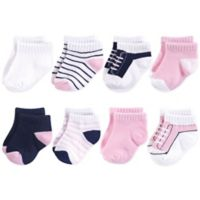 Yoga Sprout Size 6-12M 8-Pack No-Show Socks in Pink