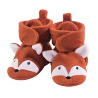 Hudson Baby® Size 6-12M Fox Booties in Orange