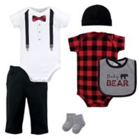 Little Treasures Size 9-12M 6-Piece Baby Bear Layette Set