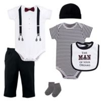 Little Treasures Size 9-12M 6-Piece Man Of Your Dreams Layette Set