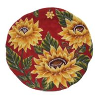 Certified International Sunset Sunflower Embossed Platter