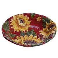 Certified International Sunset Sunflower Embossed Serving Bowl