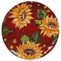 Certified International Sunset Sunflower Dinner Plates (Set of 4)