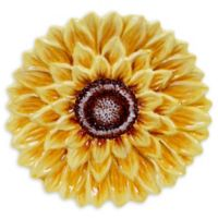Certified International Sunset Sunflower 3D Dessert Plates (Set of 4)