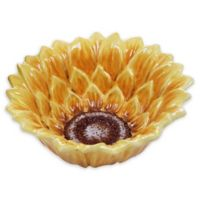 Certified International Sunset Sunflower 3D Ice Cream Bowls (Set of 4)