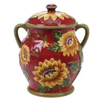Certified International Sunset Sunflower Embossed Biscuit Jar
