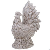 Certified International Toile Rooster 3D Rooster Cookie Jar