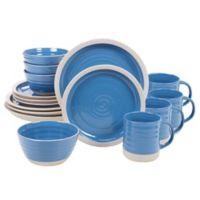 Certified International Artisan Blue 16-Piece Dinnerware Set