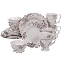 Certified International Vintage Floral 16-Piece Dinnerware Set
