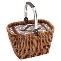 Over & Back Ashlynn Movable Handle Cooler Basket in Brown
