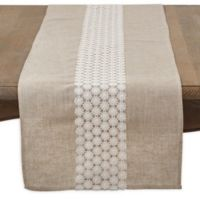 Saro Lifestyle Gabriella Lace 72-Inch Table Runner in Natural