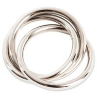 Saro Lifestyle Three Rings Napkin Rings (Set of 4)