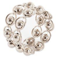 Saro Lifestyle 2-Row Bead Link Design Napkin Rings (Set of 4)