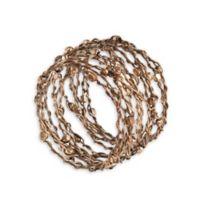 Saro Lifestyle Metal Design Napkin Rings in Gold (Set of 4)