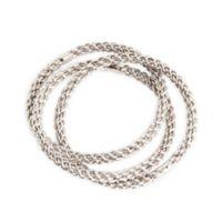 Saro Lifestyle Eternity Napkin Rings in Silver (Set of 4)