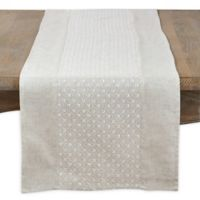 Saro Lifestyle 72-Inch Fine Embroidery Table Runner