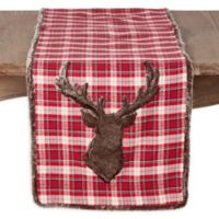 Saro Lifestyle Reindeer 72-Inch Table Runner in Red