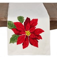 Saro Lifestyle Poinsettia 72-Inch Table Runner in Natural