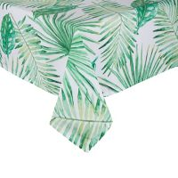 Saro Lifestyle Tahiti Leaf 55-Inch Square Tablecloth