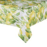 Saro Lifestyle Citrea Lemon 58-Inch Square Tablecloth
