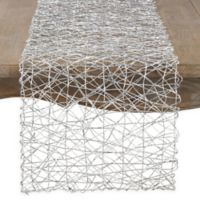 Saro Lifestyle Wire 72-Inch Table Runner in Silver
