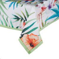 Saro Lifestyle Tahiti Flamingo 55-Inch Square Tablecloth