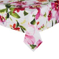 Saro Lifestyle Fiore Pink 60-Inch Square Tablecloth