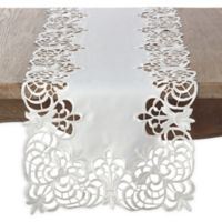 Saro Lifestyle Arabella 72-Inch Table Runner in Ivory