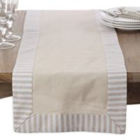 Saro Lifestyle Dupont Striped 72-Inch Table Runner in Natural