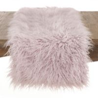 Saro Lifestyle 72-Inch Faux Mongolian Fur Runner in Lavender