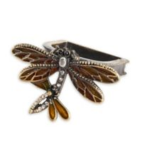 Saro Lifestyle Dragonfly Napkin Rings in Bronze (Set of 4)