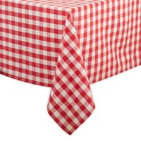 Saro Lifestyle Gingham 72-inch Square Tablecloth in Red