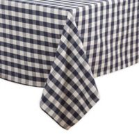 Saro Lifestyle Gingham 72-inch Square Tablecloth in Navy