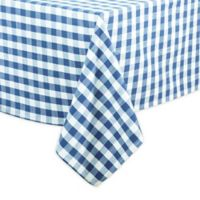 Saro Lifestyle Gingham 72-inch Square Tablecloth in French Blue