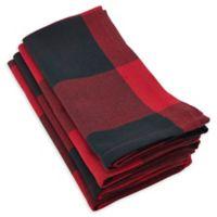 Saro Lifestyle Birmingham Buffalo Plaid Napkins in Red (Set of 4)