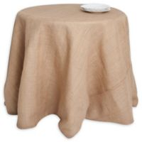 Saro Lifestyle 108-Inch Round Burlap Tablecloth in Natural