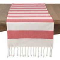 Saro Lifestyle Cabana Stripe 72-Inch Table Runner in Red