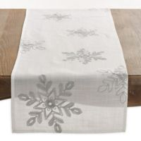 Saro Lifestyle Snowflake 70-Inch Table Runner in Silver