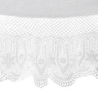 Saro Lifestyle Vinyl 72-Inch Round Tablecloth in White