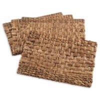 Saro Lifestyle Kailua Hyacinth 13-Inch x 19-Inch Placemats in Natural (Set of 4)
