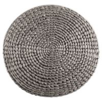 Saro Lifestyle Kailua Hyacinth 15-Inch Round Placemats in Silver (Set of 4)