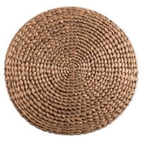 Saro Lifestyle Kailua Hyacinth 15-Inch Round Placemats in Gold (Set of 4)