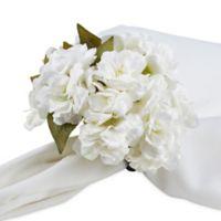 Saro Lifestyle Cherry Blossom Napkin Rings in White (Set of 4)