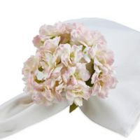 Saro Lifestyle Cherry Blossom Napkin Rings in Pink (Set of 4)