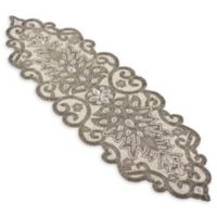 Saro Lifestyle 12-Inch Beaded Table Runner in Silver