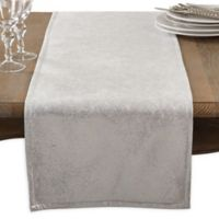 Saro Lifestyle 72-Inch Shimmering Table Runner in Silver