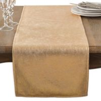 Saro Lifestyle 72-Inch Shimmering Table Runner in Gold