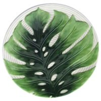 Certified International Mixed Greens Palm Leaves Embossed Charger Plate