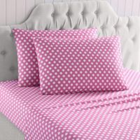 Kaleigh Kid's Microfiber Full Sheet Set in Pink